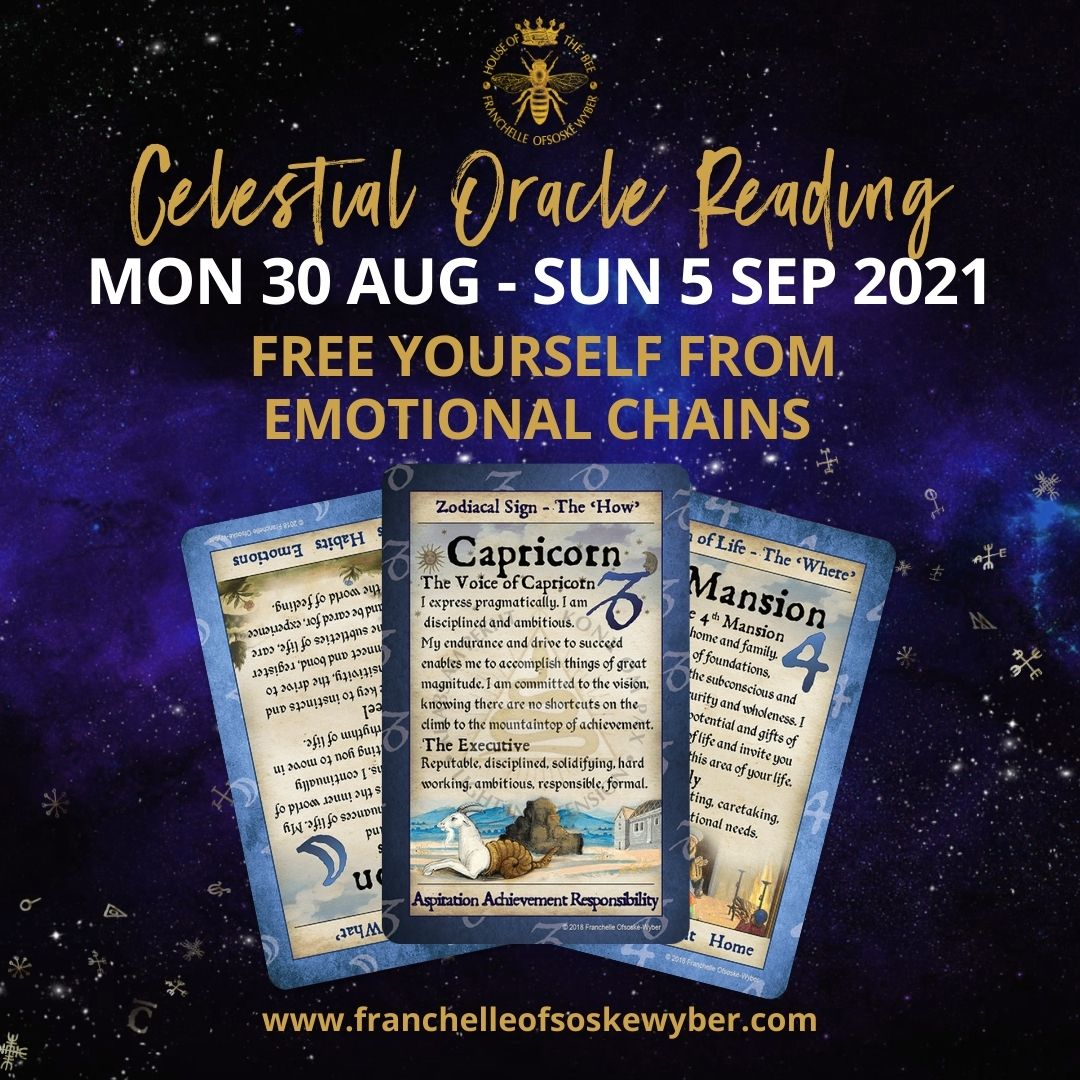 #375 Free Yourself from Emotional Chains ~ Celestial Oracle Monday 30th August - Sunday 5th September 2021