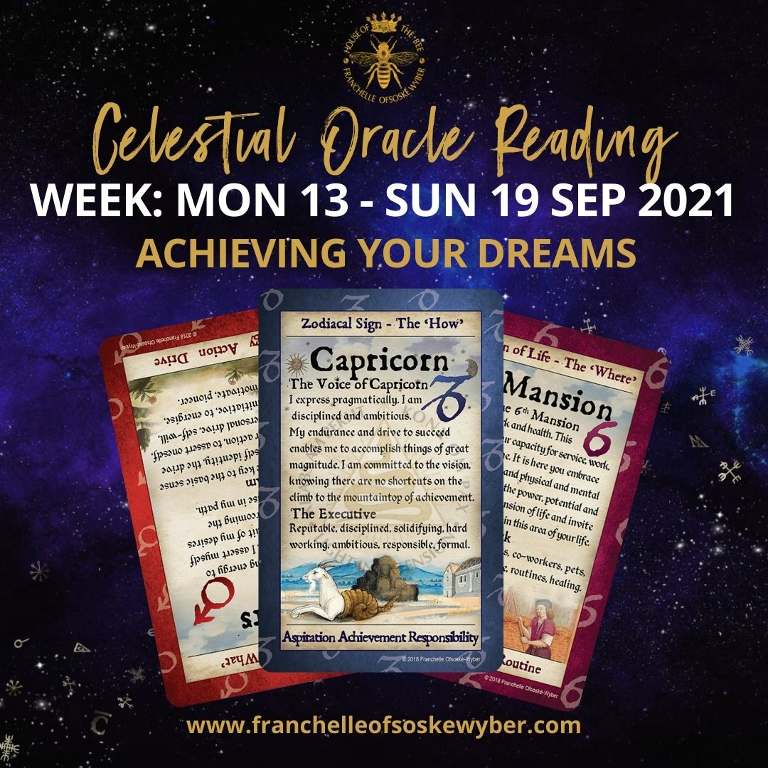 #377 Achieving Your Dreams ~ Celestial Oracle Monday 13th - Sunday 19th September 2021