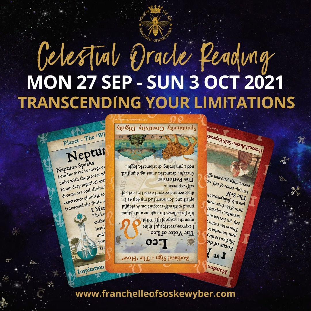 #379 Transcending Your Limitations ~ Celestial Oracle Monday 27th September - Sunday 3rd October 2021