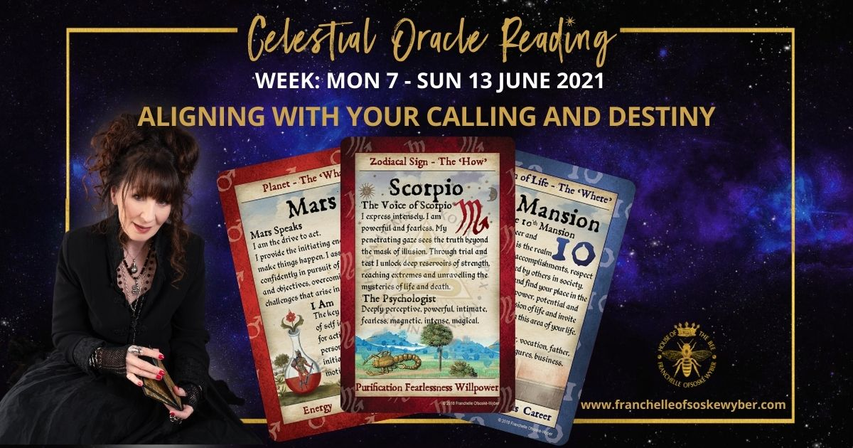 #363 Aligning with Your Calling and Destiny ~ Celestial Oracle Monday 7th – Sunday 13th June 2021