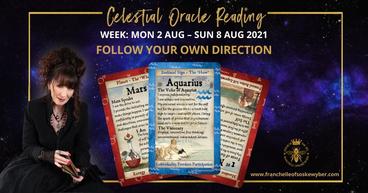#371 Following Your Own Direction ~ Celestial Oracle Monday 2nd – Sunday 8th August 2021